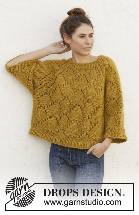 свитер из дропс спицами
