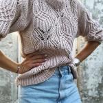 свитер с японским узором спицами