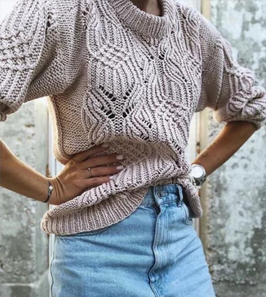 свитер с японским узором