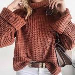 свитер вафельным узором схема