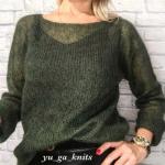 свитер паутинка из мохера спицами