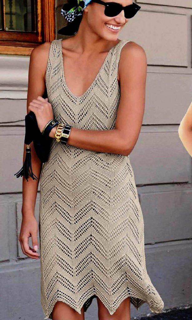 летнее платье крючком схема
