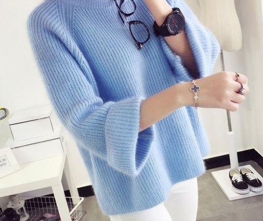 пуловер оверсайз реглан спицами