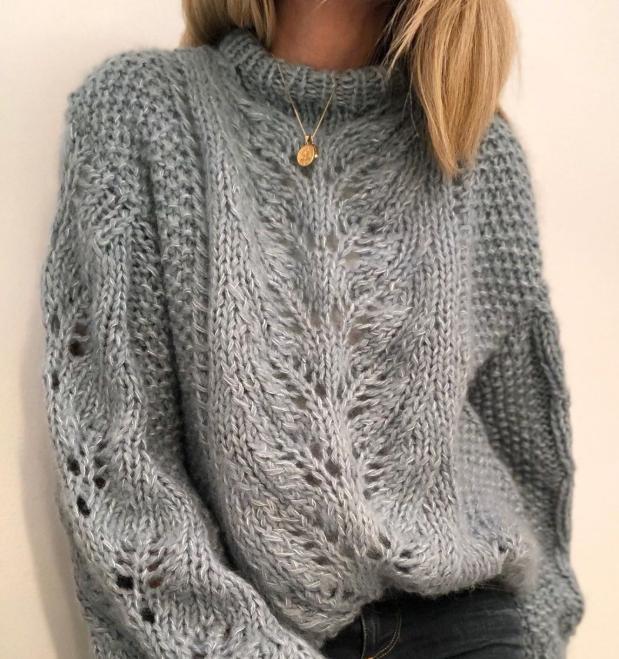 пуловер спицами для женщин схемы и описание