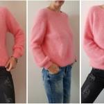 свитер оверсайз спицами из пряжи норки