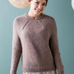 женский пуловер спицами описание