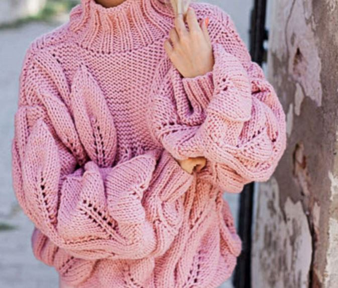 пуловер оверсайз спицами схема