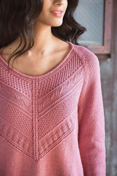 Пуловер с центральным узор