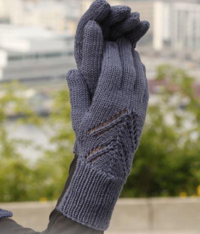 перчатки спицами