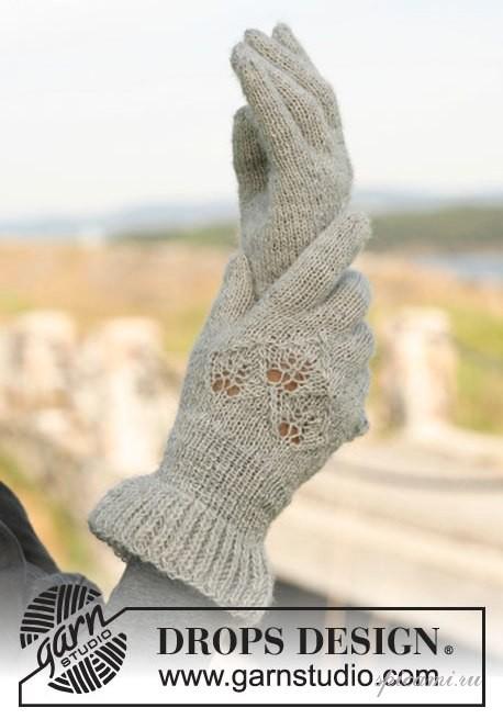 перчатки связанные спицами