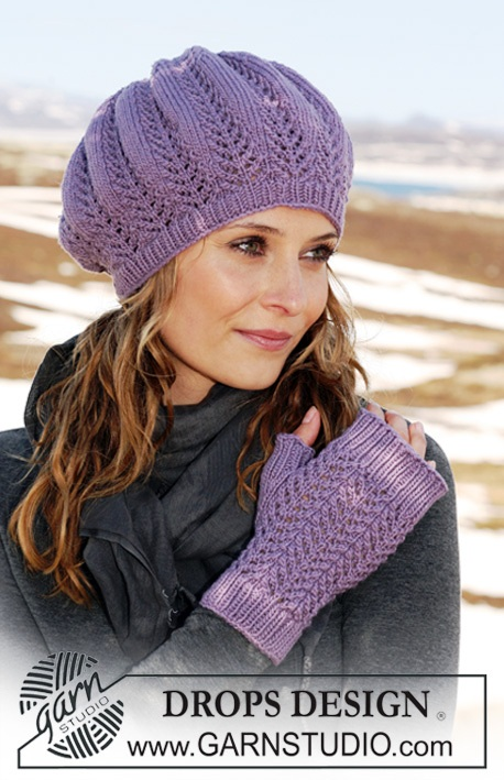 схема перчаток спицами