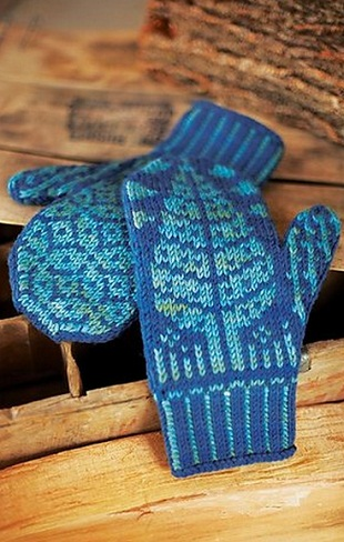 вязание варежек спицами для начинающих