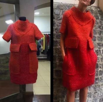 описание вязания платья